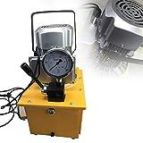 Berkalash 220 V 7 L Pompa idraulica elettrica con valvola manuale, tubo dell'olio da 1,8 m, adatto per sollevamenti, pressi, piegamenti, rotture