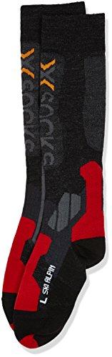 X-Socks Funktionssocken Ski Alpin, Anthracite/Red, 39/41