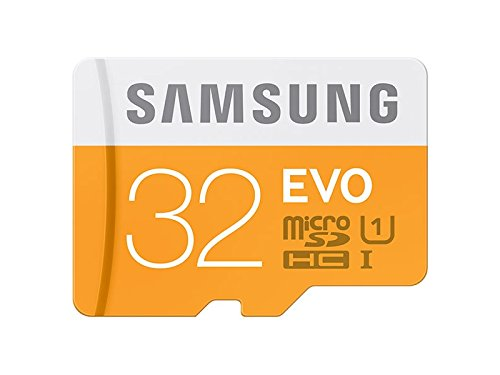 Samsung 32 GB Evo MicroSDHC UHS-I Grade 1 Class 10 Memory Card without Adapter (Frustration-Free Packaging) - Orange/White