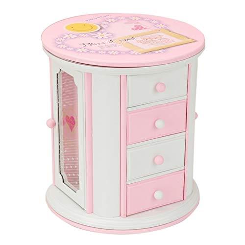 kerryshop Caja Musical Decoración Rosada Linda de la Caja de música del cajón de Almacenamiento del joyero de la música Regalo de Cumpleaños