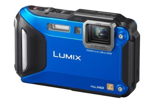 Panasonic LUMIX DMC-FT5EG9-A Outdoor Kamera (3 Zoll LCD-Display, LEICA Weitwinkel Objektiv mit 4,6x opt. Zoom, wasserdicht bis 13 m, GPS, WiFi) aktiv blau