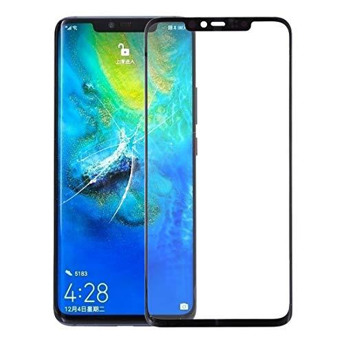 U-eenhoorn Buitenste voorkant Glas scherm Vervanging Voorscherm Buitenste Glas Lens voor Huawei Mate 20 Pro(Zwart), Zwart