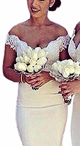 Special Bridal Special Bridal Meerjungfrau Abendkleid Schulterfrei Spitze Lange Sexy Abendkleid Brautjungfer Kleid