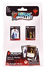 One miniature Magic The Gathering Jace vs. Vraska Duel Decks with 60 cards per mini tuckbox. Head-to-Head Game Play, just like the full size version! The game draws on popular fantasy themes and requires both chance and skill to defeat opponents in o...