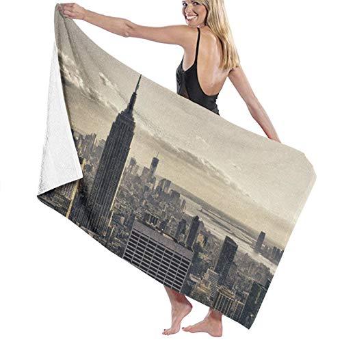 Toalla de Playa de Microfibra de Secado rápido, Grattacieli Di New York City en Invierno, EE. UU., Toalla Suave y Ligera para Acampar, Viajar, Playa, Nadar, Yoga, Gimnasio, 52 'x 32'