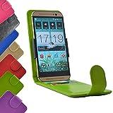 ikracase Flip Tasche für ZTE Blade L7A Smartphone Hülle Slide Cover Hülle Handytasche Handyhülle Schutzhülle in Grün