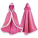 Proumhang Disfraz de Princesa Capa de Princesa para Nias Disfraces para Halloween Trajes de Navidad Rosado 150 para 7-8 aos