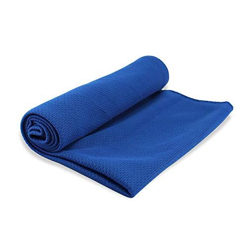 ホワイトナッツ 冷感タオル Cool Towel ブルー 夏用グッズ UVカット クールタオル アイスタオル 冷感 冷たい 冷却 メッシュ 冷感繊維 薄手 軽量 熱中症対策 暑さ対策 アウトドア スポーツ 汗拭き 汗取り