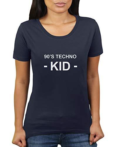 90's Techno Kid - Maglietta da donna di KaterLikoli Navy francese XXXL