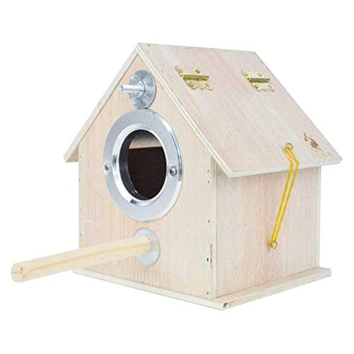 Sheuiossry Bird Nest Pigeon House Wooden Parrot Breeding Box Outdoor Garden Shelter Habitat for Lovebirds Cockatiel Parrotlets