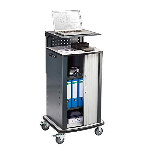 QUIPO Laptopwagen - mit Rollladen - anthrazitgrau RAL 7016 - Computerschränke computer cabinets