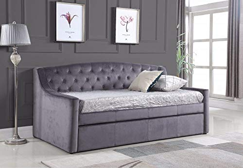 BEDZONLINE DAYDREAM DAYBED WITH TRUNDLE AND TWO FANTASTIC MEMORY FOAM AND REFLEX MATTRESSES