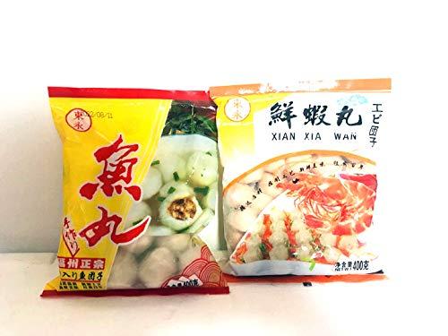 【2種類団子セット】正宗福州魚丸×2点 鮮蝦丸×2点  冷凍食品 しゃぶしゃぶ・鍋 火鍋食品 クール便 400g×4点