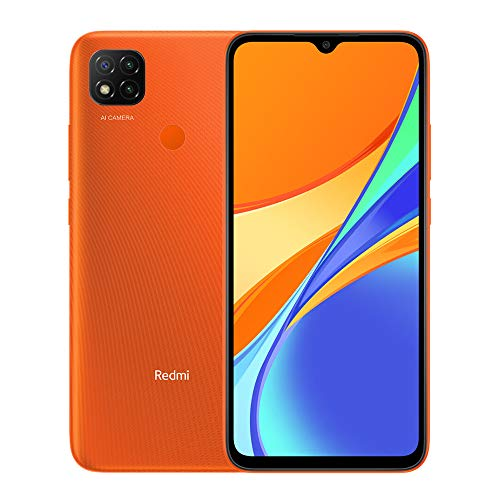 "Xiaomi Redmi 9C Teléfono 3GB RAM + 64GB ROM, 6.53"" Dot Drop Display, Procesador Octa-Core 5MP Frontal y 13MP Cámaras Triples Versión Global (Naranja)"
