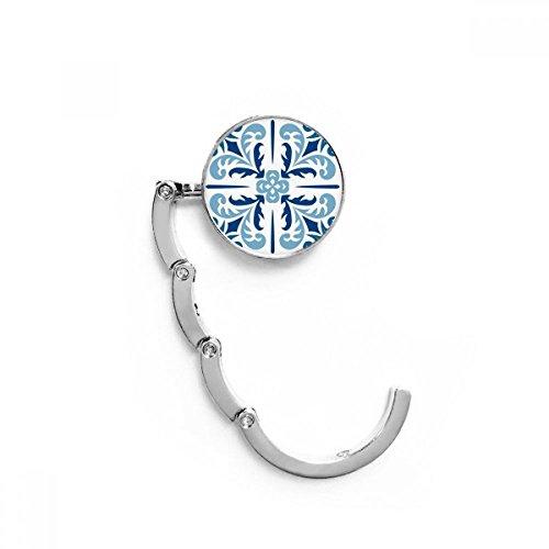 DIYthinker Azul Marruecos Decorativo Flor de la Ilustración Tabla Gancho Plegable del Bolso de Colgar Titular Escritorio Plegable