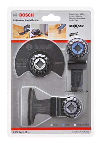 Bosch Professional 2608662223 Set de 3 Hojas para Corte de inmersión y Hoja de Sierra segmentada Starlock (para Madera y Metal, Accesorio de multicortador)
