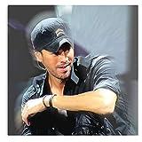 Tour 2018 Pop London Latin Musician Concert Enrique Singer Iglesias Hero - Affiche d'art Tendances décoratives Peinture Art Mural pour Chambre
