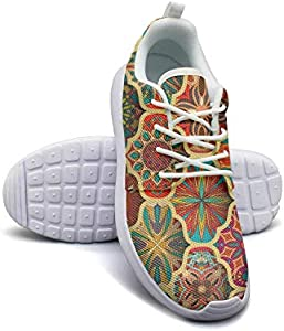 Abstract Mandala Heart Shaped Women's Lady Flat Bottom Casual Shoes Sneakers Cute Classic Running Shoes