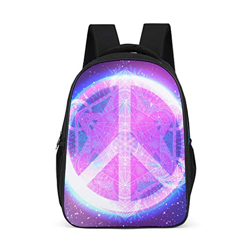 Cyliyuanye Peace & Love Fashion Kids' Backpack School Book Bag For kids Adults Gift For Boys Girls bright gray onesize