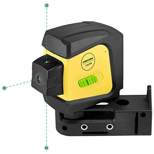 Firecore F333G 3-Point Laser, Green Beam Self-Leveling Alignment Laser with Magnetic Bracket