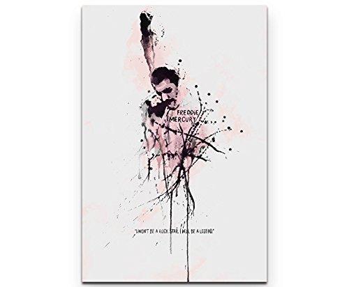 Paul Sinus Art Freddie Mercury 90x60cm auf Leinwand gespannt fertig zum aufhängen