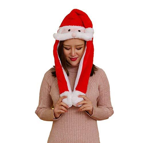 Raspbery Everyone Hoed, beweegbare hoed, hazenoren, druk en beweging, Glow and Music, schattige airbag-hoed, kerstmuts, voor kinderen en dames, cadeau
