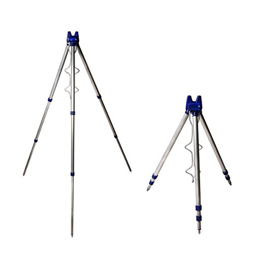 Fishing Rods Tripod Stand Fish Rods Tripod Stand Rest for Sea Beach Shore Pier Tackle Telescopic [UK SELLER]