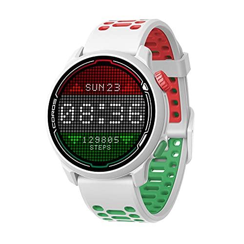 COROS PACE 2 Premium GPS Sportuhr mit Nylon- oder Silikonband, Herzfrequenzmesser, 30-Stunden-GPS-Vollbatterie, Barometer, ANT + & BLE-Anschlüssen (Eliud Kipchoge Edition)