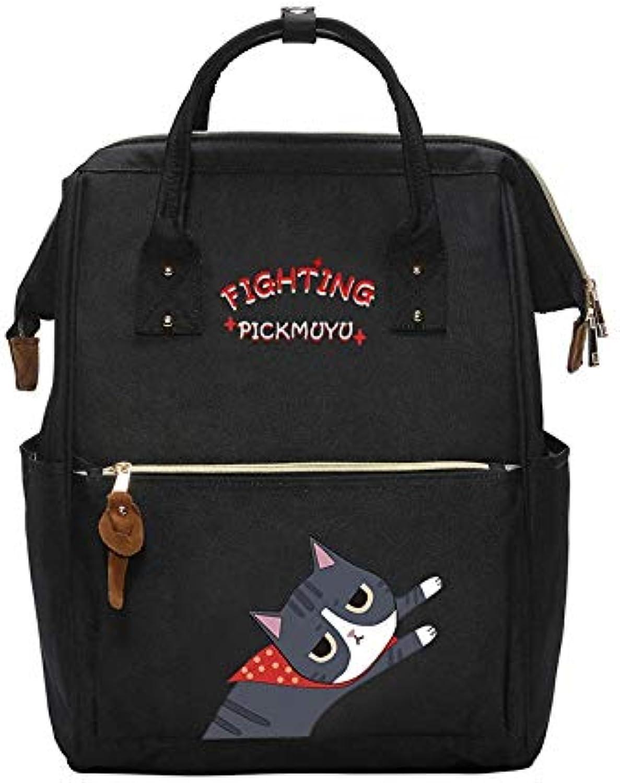 TXOZ Polyester Cartoon Printed Pattern Backpack Female College Backpack Fashion Canvas Bag backpack (color   B)