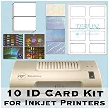 10 ID New Shipping Free Shipping Card Kit - Laminator Teslin an Pouches Butterfly Inkjet online shop