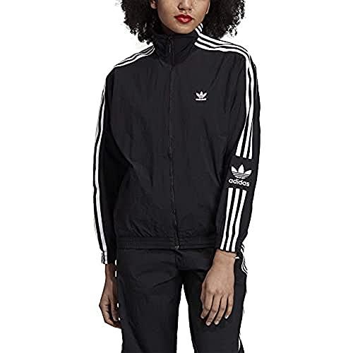adidas Track JKT Sudadera con Cremallera, Mujer, Negro (Black/White), 38
