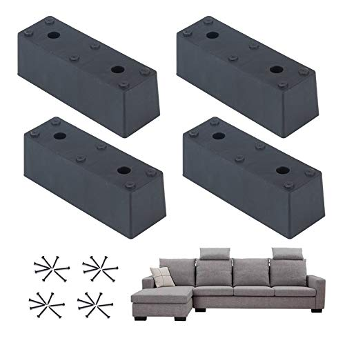 barture Set Of 4 Furniture Legs, Replaceable Furniture Feet Height 5cm/8cm With Mounting Screws Suitable For Sofa/coffee Table/bed (Size : 8cm)