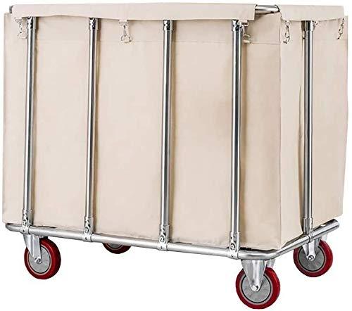 Cesto para la colada Clasificador de lavandería Clasificador de lavandería Rolling Lavandería con ruedas, servicio de limpieza del hotel Carretilla de limpieza con bolsa extraíble Cesta de lavandería