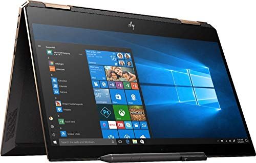 "2019 HP Spectre x360 13t Gem Cut 4K 3840x2160 with 13.3"" Display 2 in 1(i7-8565U, 16GB, 1TB NVMe SSD, Stylus Pen, 3 Years McAfee Internet Security, Windows 10 PRO Upgrade, Worldwide Warranty) Dark Ash"