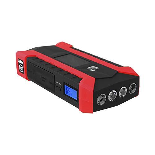 ZZBB Arrancador De Salto De Coche con 4 USB 600a 15v / 16 / 19v Arrancador De Emergencia De Vehículo Portátil Banco De Energía Dispositivo De Arranque De Refuerzo De Coche Cargador Arrancadores,