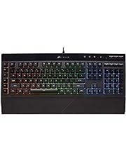 Corsair K55 RGB gaming toetsenbord - IP42 stof- en waterbestendigheid - 6 programmeerbare macro-toetsen - speciale mediakoetsen - afneembare palmsteun inbegrepen