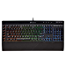 (Renewed) CORSAIR K55 RGB Gaming Keyboard - Quiet & Satisfying LED Backlit Keys - Media Controls - Wrist Rest Included - Onboard Macro Recording
