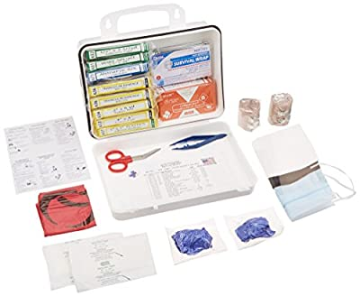 Certified Safety K201-504 16PW Loggers First Aid Kit, Poly White from Builders World Wholesale Distribution