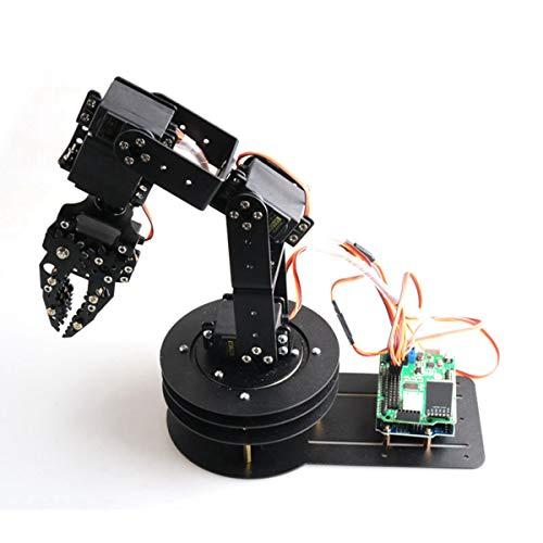 HARLT 6 DOF Roboterarm + 6PCS High Torque Servos (Metallgetriebe) + Mechanische Greifer + Große Metallhaltig + Full Metal Plate,BluetoothVersion