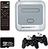 KINHANK Super Console X PRO Game Consoles with 256GB Built-in 50,000+ Games,4K TV HDMI Output Classic Video Game Console for Adults,Support PSP/PS1/DC,2 Controllers,Best Gifts for Kids (XPRO-256GB)