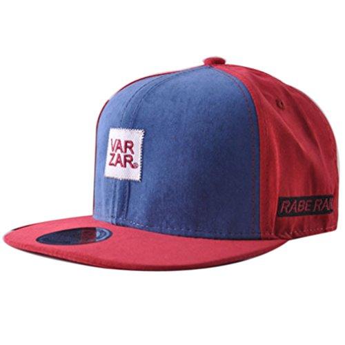 Belsen Kind Hip-Hop Schreiben Cap Baseball Kappe Hut Truckers Hat (Kind, Weinrot)