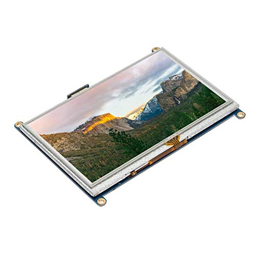 Caiqinlen Backlight 800x480 Resolution Touch Screen for Raspberry Pi, TFT Durable Touch Screen, for Raspberry Pi