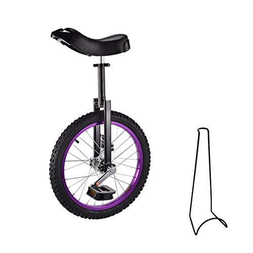 Monociclo, 16 pollici, 18 pollici, monociclo per bambini, regolabile in altezza, con supporto per bicicletta e attrezzi di montaggio, portata massima 150 kg (nero, 16 pollici)
