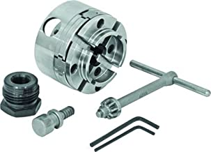 """Bundle - 2 items - NOVA 48202 G3 Woodlathe Chuck (Includes 2"""" Jaws and Woodworm Screw) with IDNS 1"""" X 8TPI Insert Adapter"""