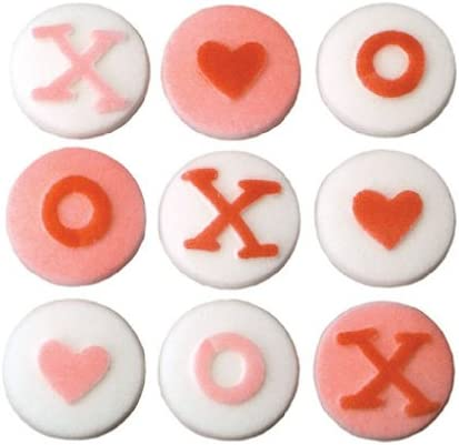 Indianapolis Mall Valentines Day X O Hearts Cake Decorations Cupcake Time sale Cookie Sugar