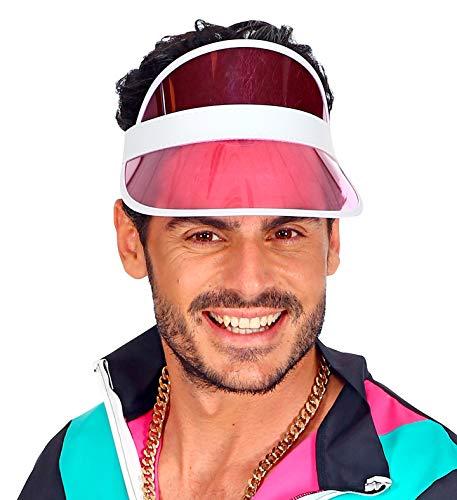 shoperama 80er Jahre Sonnenvisir Poker Beach Party Sonnen-Hut Sonnen-Kappe Kostüm-Zubehör JGA, Farbe:Pink