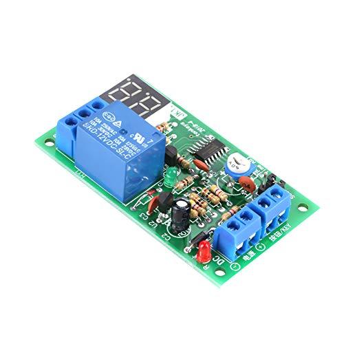 Módulo de temporizador, módulo de relé de temporizador Pantalla LED de amplio rango de tiempo Retardo de temporización de cuenta regresiva para un relé de temporizador para mostrar el
