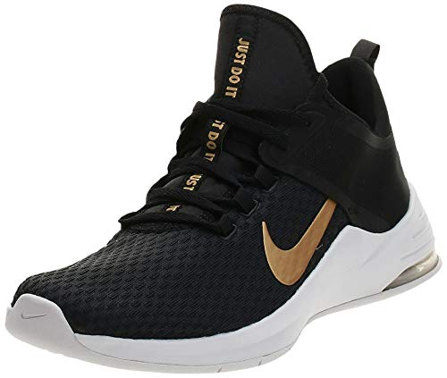 Nike Damen Air Max Bella Tr 2 Fitnessschuhe, Mehrfarbig (Black/Metallic Gold/Vast Grey 000), 43 EU