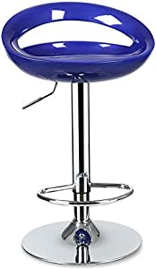 BAR STOOL Barhocker, Liftbar Barhocker - Hell und drehbar mit Rückenlehne Hochstuhl für die Dauerhaftigkeit 0528P (Farbe : Dark Blue, größe : S)