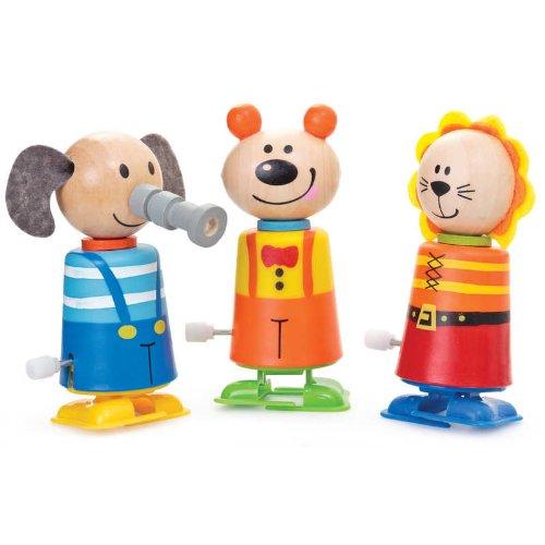 Clockwork plastique Bois & Wind Up Kid Marcher animaux jouets